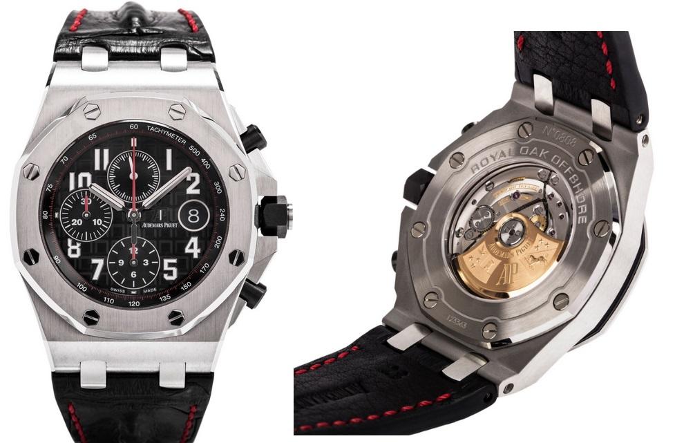 Audemars Piguet Royal Oak Red Stitch Strap Watch 26470ST.OO.A101CR.01