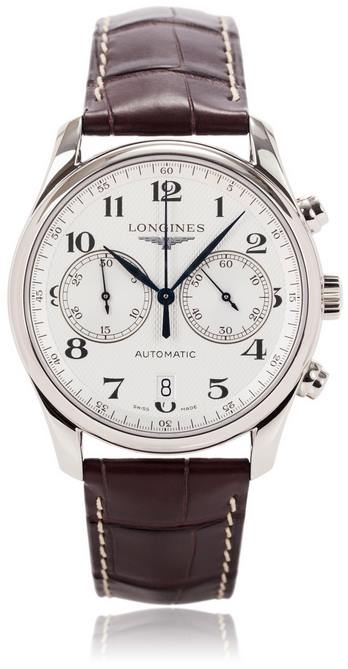 Longines Master Collection White Stainless Steel Automatic Mens Watch L2.629.4.78.3- full view